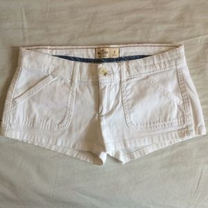 "Hollister low rise white short shorts - 2"" inseam"